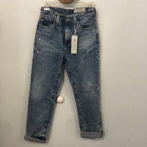 AG Phoebe vintage high waisted lapered leg jeans